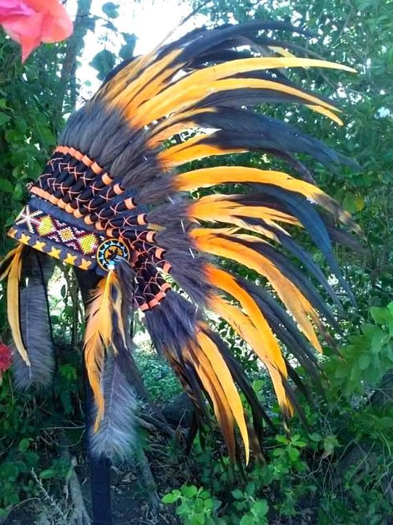 Children's Indian Costume Feather Headdress Child's