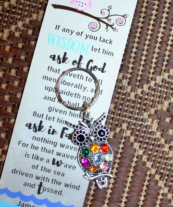 Young Women 2017 theme owl key chain and bookmarked gifts