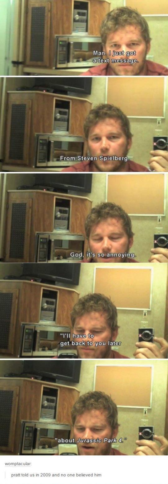 Chris Pratt's Mind-Blowing Prediction