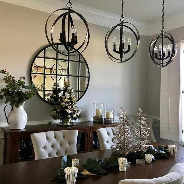 Pin By Ashley Rubio On Dining Room Dining Chairs Dining Room Inspiration Round Wall Mirror