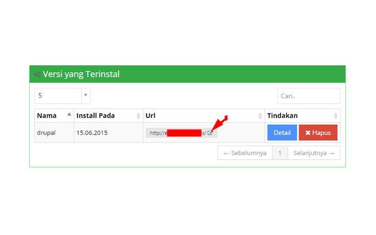 Halaman informasi install pada idhostinger
