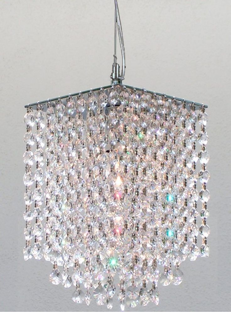 Modern Mini Rectangular Chandelier 88 58 Crystal 1 Light Top Chandeliers
