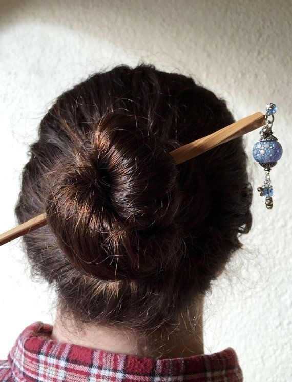 how to make hair bun with stick