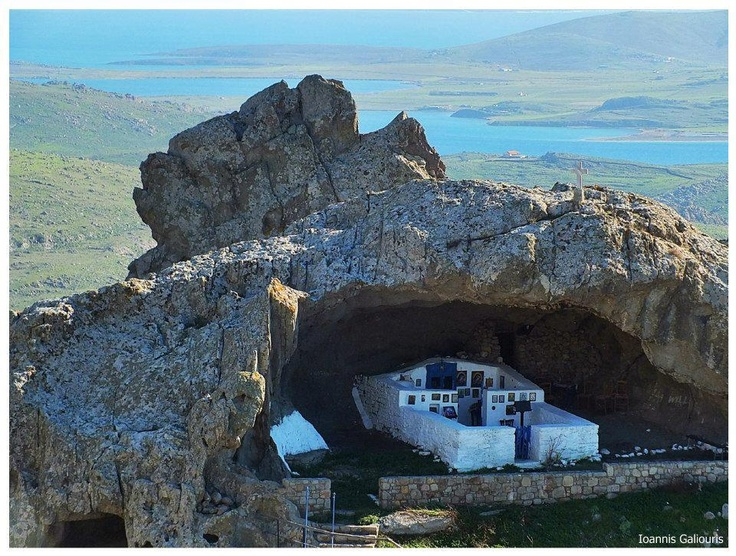 The Panagia Kakaviotissa the only church in the world without a roof in Lemnos!Greece