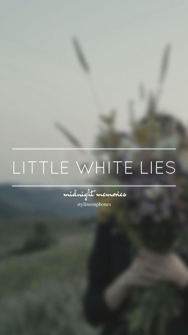 Little White Lies • Midnight Memories Lockscreen — ctto: @stylinsonphones