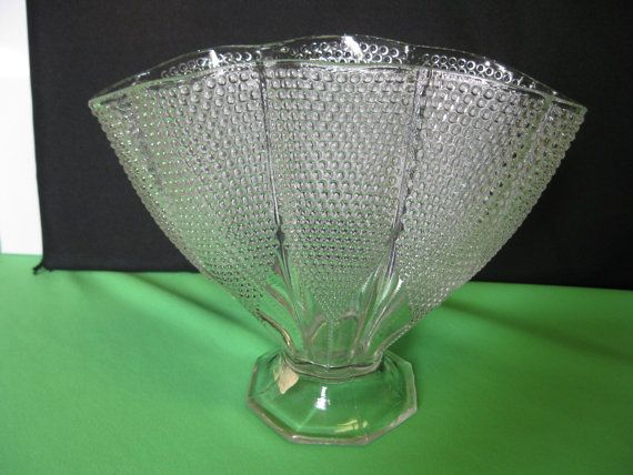 Vase L E Smith Glass Crystal Dewpoint by hazeleyesartglassetc