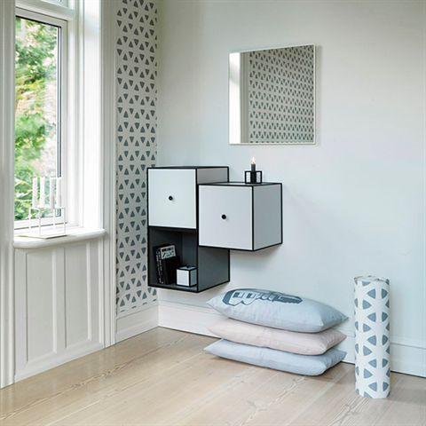 View Mirror 56x56 cm, white - by Lassen