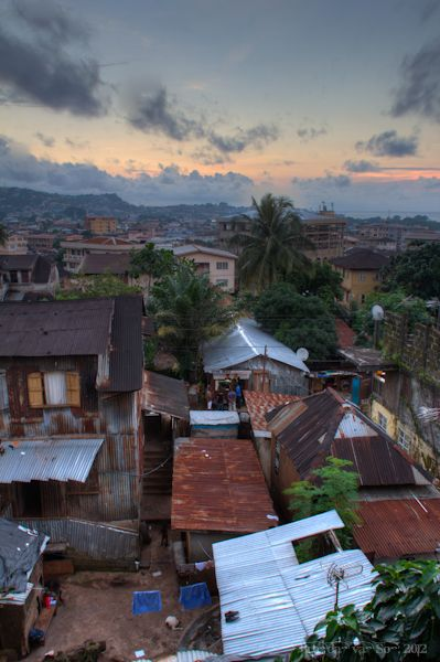 More from Freetown... how's that for a sunset view?