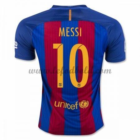 Billige Fodboldtrøjer Barcelona 2016-17 Messi 10 Kortærmet Hjemmebanetrøje