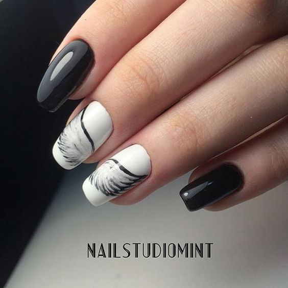 Amazing gel nails with wings - Miladies.net