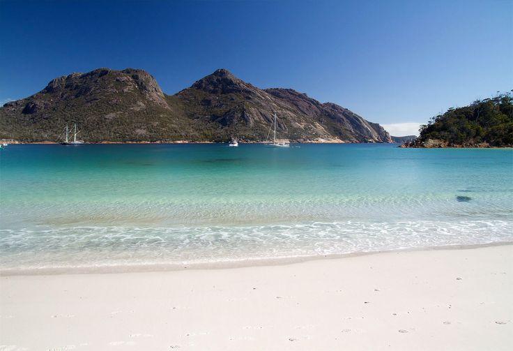 Wineglass Bay Freycinet National Park Tasmania Australia.