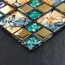 Online Shop Blaue Farbe Kristallglas Gemischte Muschel Mosaik Hmgm1148 F 252 R K 252 Che Backsplash