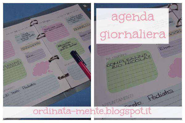 ORDINATA MENTE: L'agenda settimanale