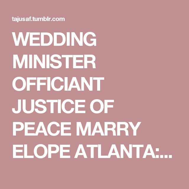 how to get married at the justice of the peace