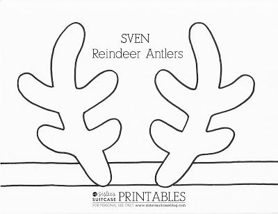 FROZEN Elsa Crown + Sven Reindeer Antler Templates | My Sister's Suitcase – Packed with Creativity