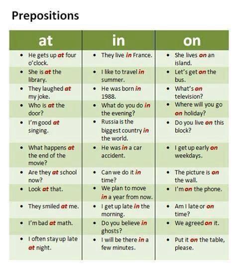 Prepositions #ELT #ESL #EFL