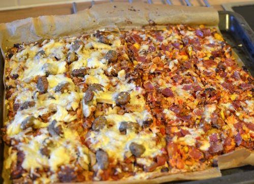 En pakke brødmix som ble til en mye sunnere lørdagspizza (Bakekona)