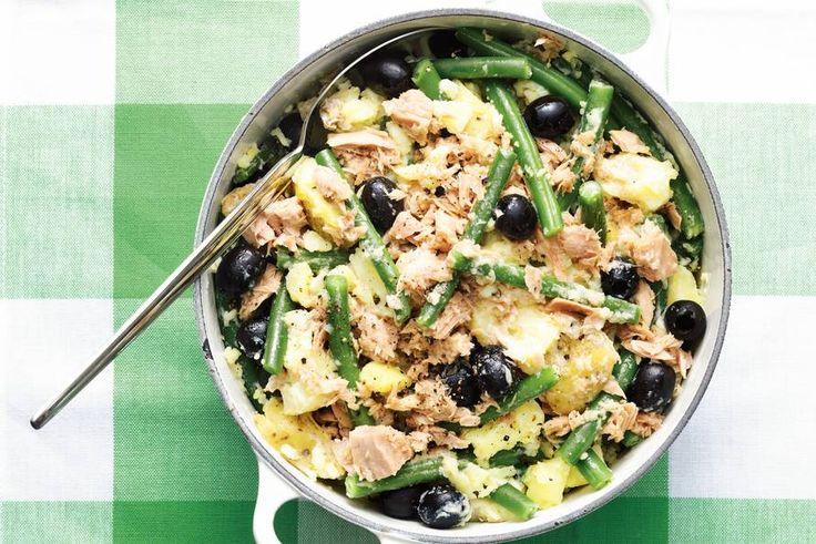 Stamp met sperziebonen, tonijn en olijven - Recept - Allerhande