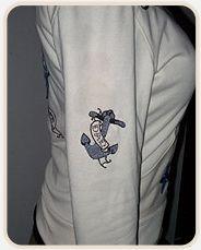 embroidery on sleeve of hoodie