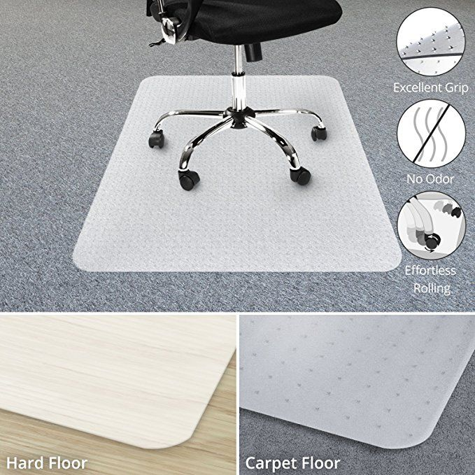 Chair Mat For Carpets Low Medium Pile Computer Chair Floor Protector For Office And Home Opaque Studded Pol Office Chair Mat Chair Mats Computer Chair