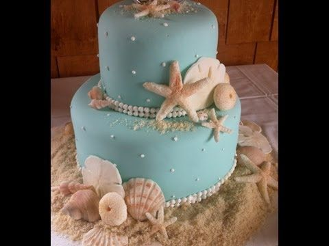 Come decorare la torta Sirenetta di Greedy in pasta di zucchero decorating Mermaid Cake sugar paste - YouTube