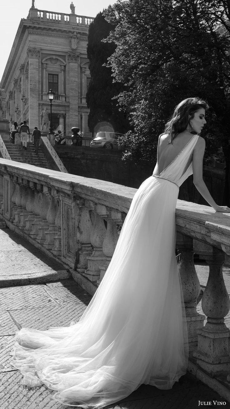 julie vino bridal spring 2017 sleeveless vneck ball gown wedding dress (marcella) bv vback train
