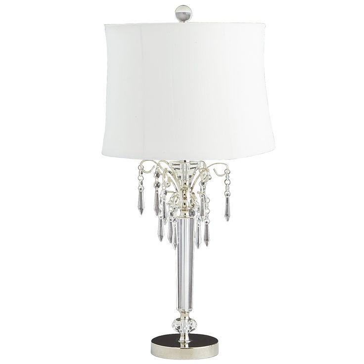 Clear victoria crystal table lamp