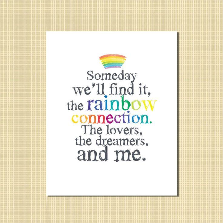 Lyric rainbow connection lyrics : 35 best Rainbow Birthday Party images on Pinterest | Birthdays ...