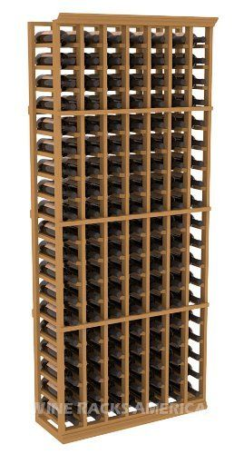"Five Star Series: 7 Column 133 Bottle Standard Wine Cellar Rack in Pine with Oak Stain by Wine Racks America®. $498.78. 11/16"" wood thickness. Designed for 750ml wine bottles. Some assembly required .. Money Back Guarantee + Lifetime Warranty. Made from eco-friendly wood sources in sustainable forests. 3 ¾"" wide cubicles for bottle access.. Choose From either Pine, Redwood, or Mahogany along with optional Industry Leading Quality Eco-Friendly Stains Paired with an ..."
