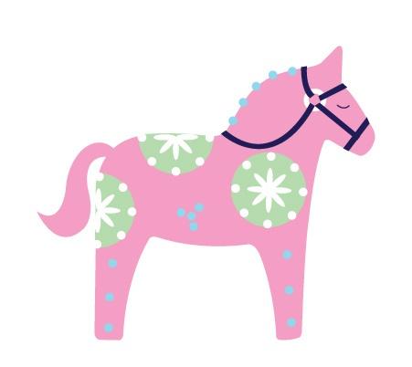 Pink dala horse.