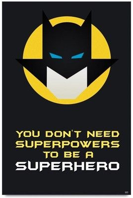 Bluegape Batman Superhero Quote Photographic Paper - Motivational posters in India - Buy art, film, design, movie, music, nature and educational paintings/wallpapers at Flipkart.com