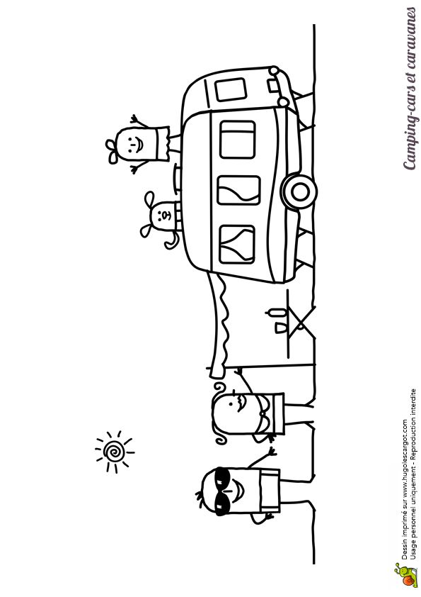 86 best images about coloriages de camions on pinterest cars cartoon and lego - Camping car a colorier ...