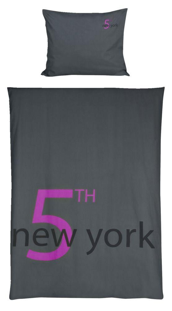 Dekbedset 5th Avenue: stoere dekbedset in antraciet #slaapkamer
