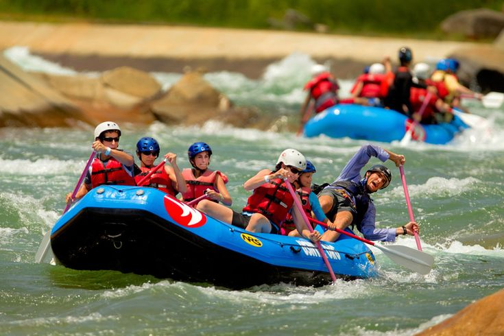Rafting at the U.S. National Whitewater Center!  They also offer rock climbing, mountain biking, zip lining, kayaking, stand-up paddle boarding, and hiking. Basically everything fun and outdoorsy.  Oh and the food's really awesome too.