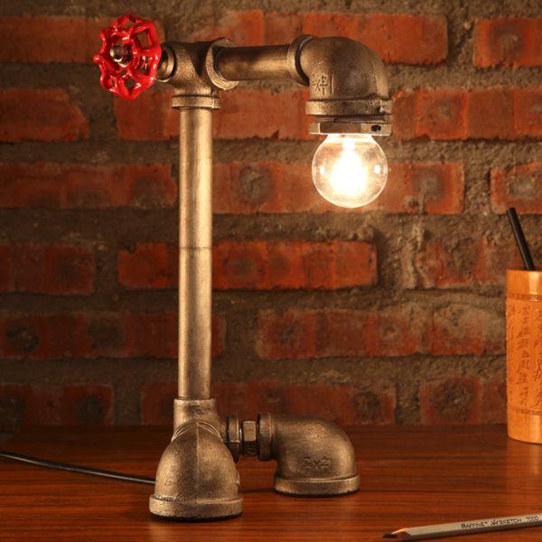 Industrielle Schreibtischlampe – Rusty Lamp Creations #Pipelamp