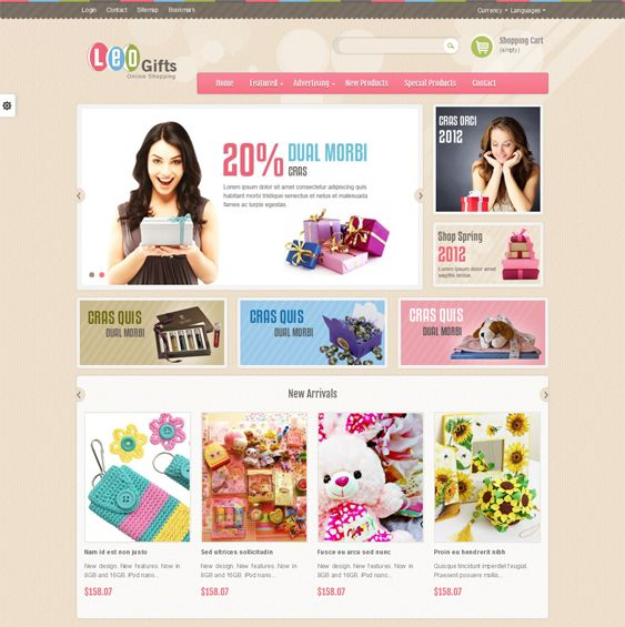 This Bootstrap PrestaShop theme features a responsive layout, 3 preset color schemes, HTML5 and CSS3 code, easy color and layout customization, cross-browser compatibility, a mega menu, and more.