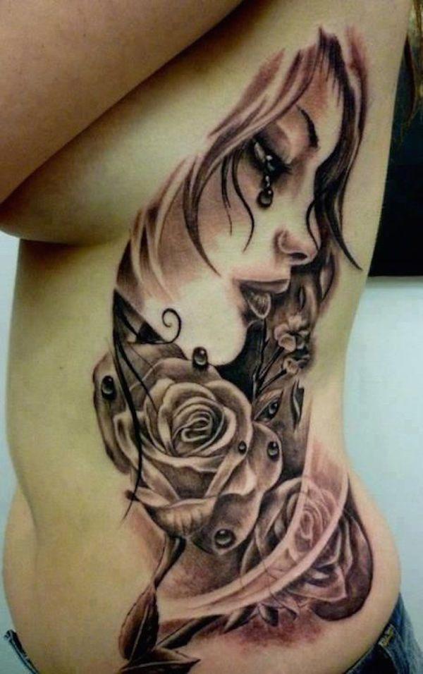 Emo tatttoo tattoomodels tattoo sexiest rib tattoos for Girl rib tattoo ideas