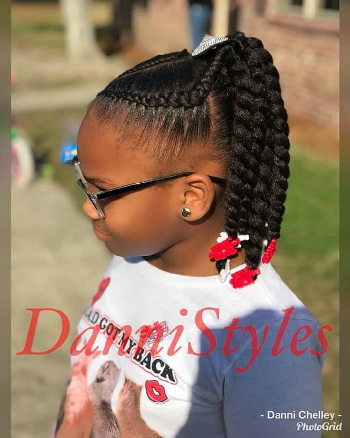 Such A Cute Hairdo Kids Braided Hairstyles African Braids Hairstyles Kids Hairstyles