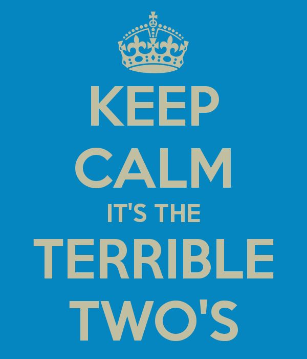 keep calm its the terrible two