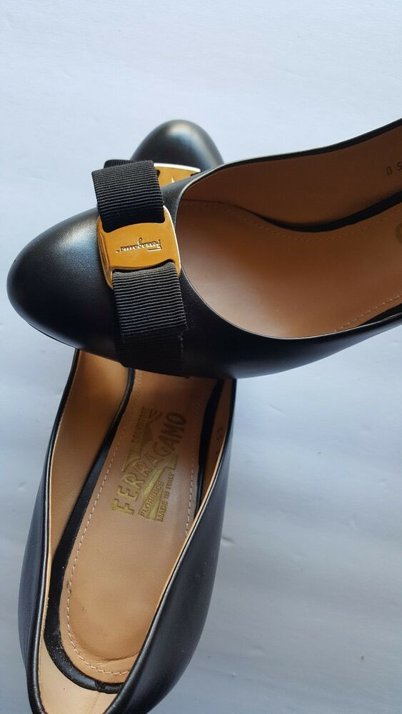 a7fab70b427 Salvatore Ferragamo Women s Black Rilly Patent Leather Bow Pumps size US 10   fashion  clothing  shoes  accessories  womensshoes  heels (ebay link)
