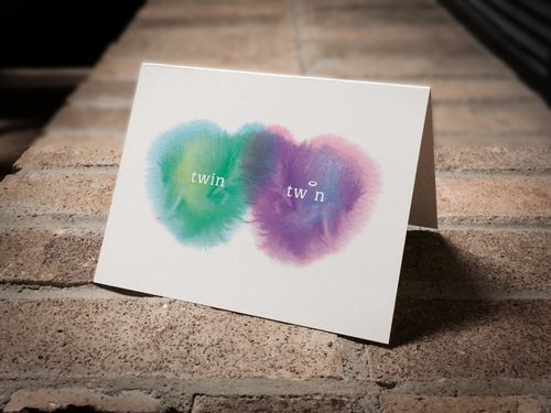 Condolence card for the loss of one twin. (boy/girl twins - loss of girl)
