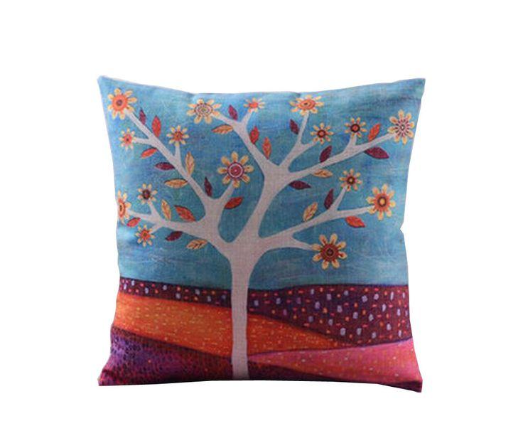 Vintage Throw Pillow Cover Cotton Linen Cushion Cover Home Decor Pillow Case