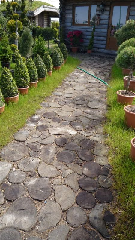 Landscaping Walkways And Paths With Wood | Stepping Stones Ideas   Cottage Garden  Forum   GardenWeb