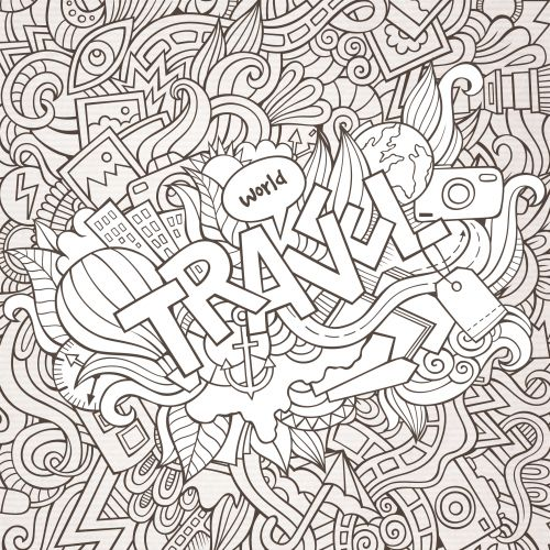 travel coloring pages - 46 best images about doodles coloring pages on pinterest