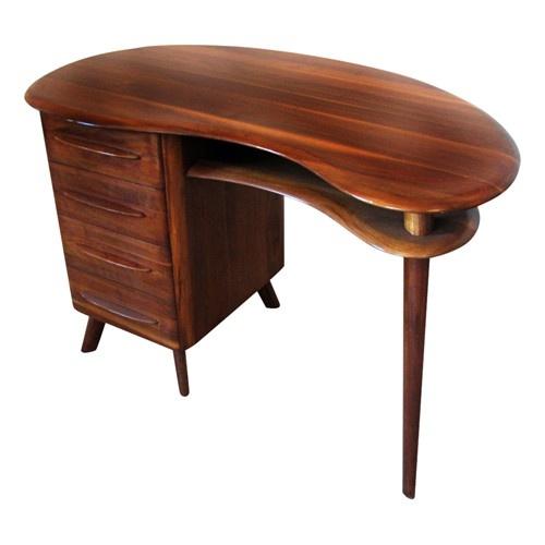 Freeform Mid Century Modern Desk By Bissman Circa 1956