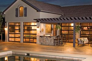 Who says garage doors are only for garages? Bring outside in with Glass garage doors!