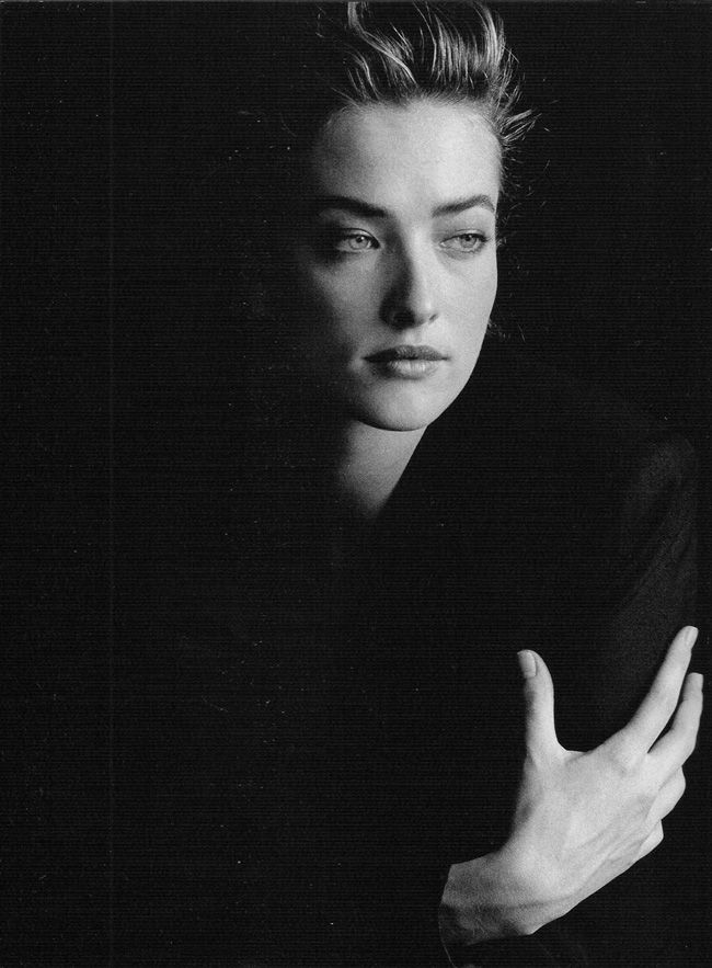 Tatjana Patitz photographed by Peter Lindbergh.
