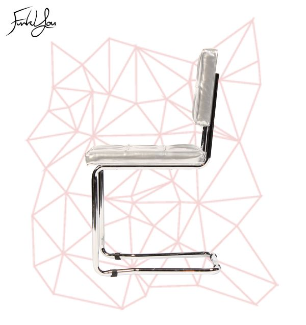 Freeform Cantilever Chair - Shiny Silver. www.funkyou.com.au