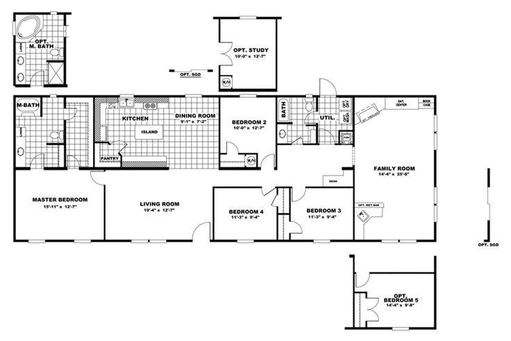 Floorplan summit 28x80 76 29sum28764ch oakwood homes for The veranda clayton homes