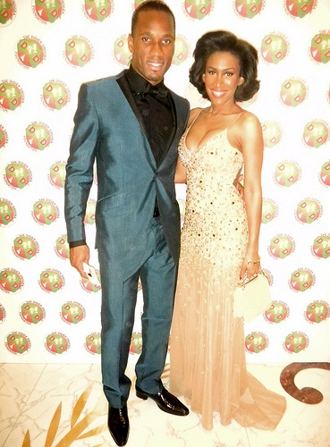 Didier Drogba and Moana at the Didier Drogba Foundation Charity Ball